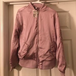 New with tags Dusty Pink Bomber Jacket